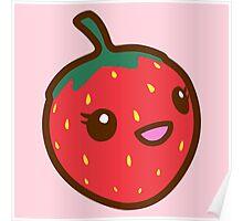 Kawaii Strawberry Poster