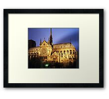 Notre Dame Cathredral, Paris at Sunset Framed Print