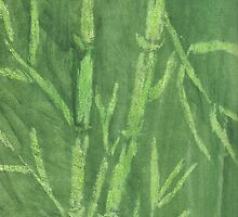 """Green Bamboo"" (monochromatic hue series) by Mui-Ling Teh"
