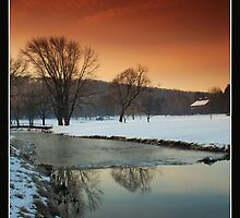 Morning On Saucon Creek #5 by Bridges