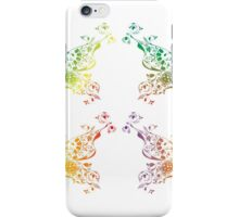 Abstract multicolored butterflies iPhone Case/Skin