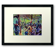 Red Hot Poker Dots Live at Joe Maguires Framed Print