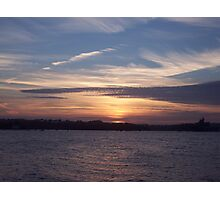 Evening Over The Tamar. Photographic Print
