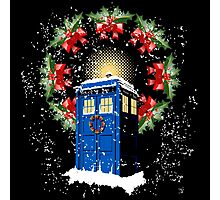 A WARM & COMFORTABLE TARDIS IN THGE SNOWSTORM  Photographic Print