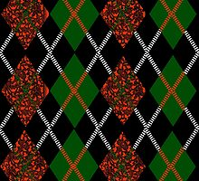 Scottish Lace & Classic Tartan Argyle Pattern by PrivateVices