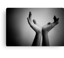 sculpture of hands Canvas Print