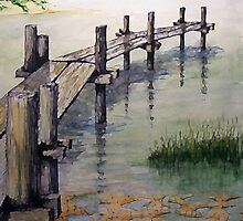 Old Bogue Sound Pier by Jim Phillips