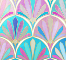 Glamorous Twenties Art Deco Pastel Pattern Sticker
