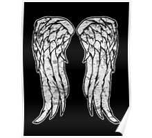 Daryl Dixon Angel Wings - The Walking Dead (dirty) Poster