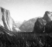 Yosemite National Park--mixed media painting by Vintage Works
