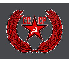 Russian Soviet Red CCCP Photographic Print