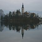 Bled Island in Slovenia by Andy Cook