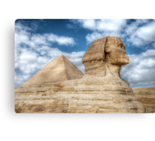 Who Left A Pyramid On My Back ? Canvas Print