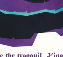Explore the tranquil Kingdom of Labyrinth - retro travel poster Sticker