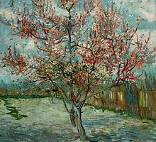 'Pink Peach Trees Souvenir de Mauve' by Vincent Van Gogh (Reproduction) by Roz Abellera Art