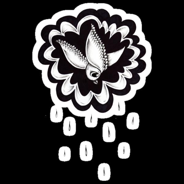 Raining Bird by Angelique  Moselle