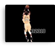 Kobe Bryant  All Time Scoring 32310  Canvas Print