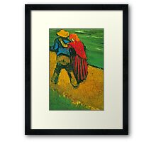 'Two Lovers' by Vincent Van Gogh (Reproduction) Framed Print