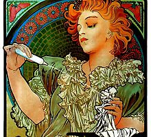'Lance Parfum' by Alphonse Mucha (Reproduction) by Roz Abellera Art