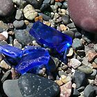 Blue Seaglass by Jenni C