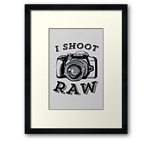 I Shoot RAW - Black Framed Print