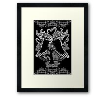 Nightmare Skull and Crows Framed Print