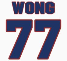 National football player Joe Wong jersey 77 by imsport