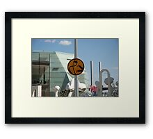 Pedestrians are double points this week Framed Print