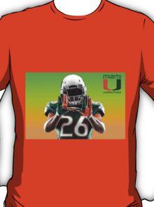 Miami Hurricanes Football Player T-Shirt