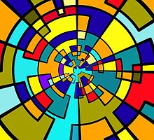 Spiral Color Blocks by Penny Marcus
