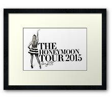 The Honeymoon Tour w/ Ariana (Shade White Only) Framed Print