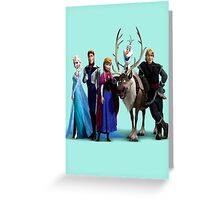 Frozen Characters Greeting Card