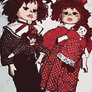 Raggedy ann and Andy Dolls by redsirens