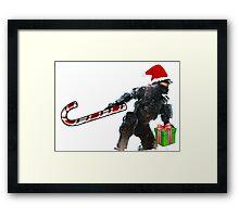 Master Chief Santa Claus Framed Print