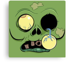 Zombie Face with eye popping out Canvas Print
