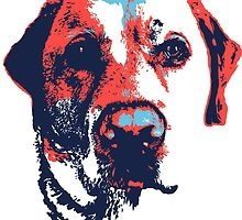 Patriotic Labrador by Rachel Counts