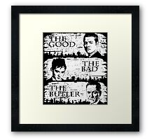 The Good, The Bad and The Butler Framed Print