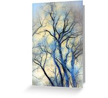 blue trees Greeting Card