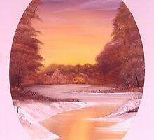 Woods and River Sunset 2 by Dennis Knecht