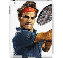 Roger Federer in action iPad Case/Skin