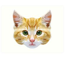 Crystalline Cat Art Print