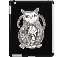 Contented Cat Tee iPad Case/Skin