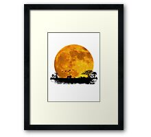 African Moonrise Framed Print