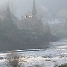 Misty Day at Llangollen by jcjimages