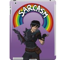 """Helping people and killing people are what I'm best at."" iPad Case/Skin"
