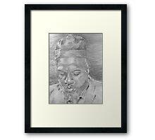 Monk (Up Close) Framed Print