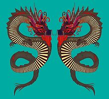 DRAGON INK turquoise by Sharon Turner