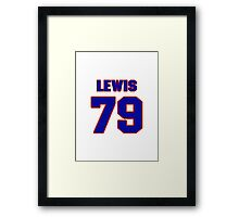 National football player Butch Lewis jersey 79 Framed Print
