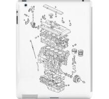 Honda B Series Engine Exploded Blueprint iPad Case/Skin