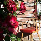 Red Roses Red Chair by Catherine Davis